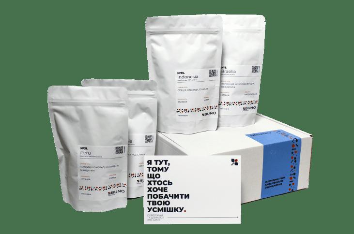 500 грамів кави свіжого обсмаження. 4 різних сорти з різних уголків світу.  По 125 грамів кожного